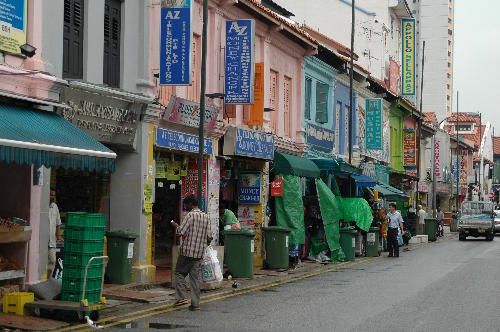 Straßenzug in Little India, Singapur