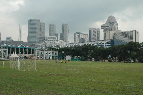 Blick auf Suntec City Mall bzw. City Link Mall in Singapur